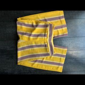 Express High Waisted Stripe Culottes sz 0